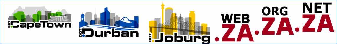co.za, .joburg, .capetown, .durban domain names