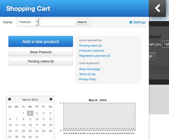 kopage shopping cart