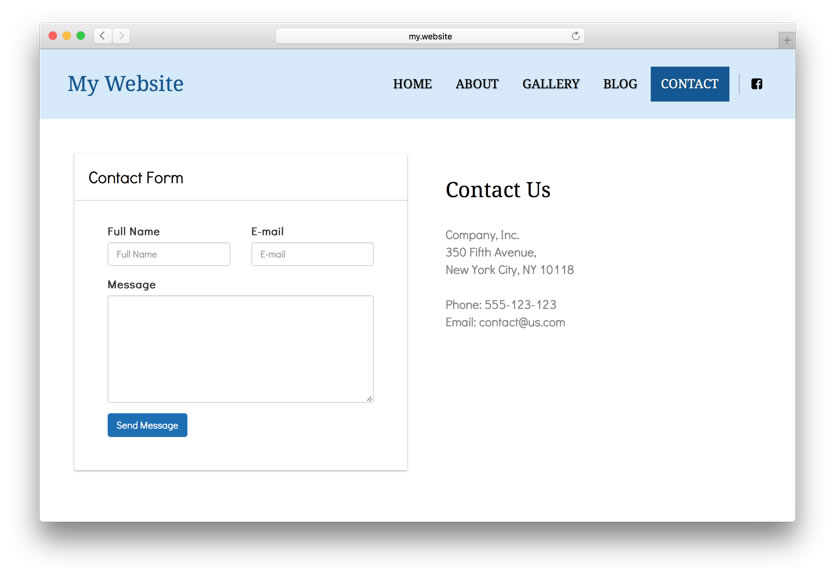build contact form